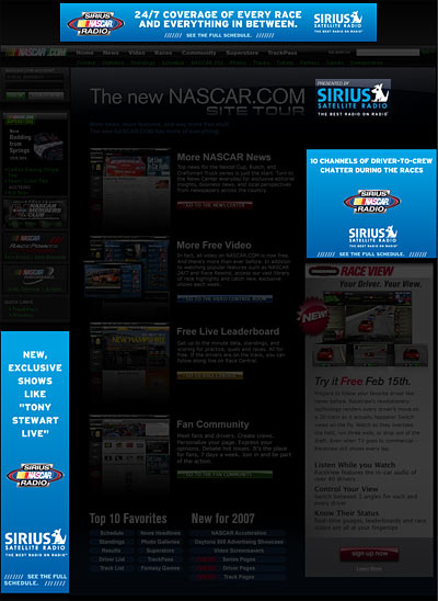 new and improved nascar website