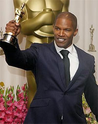 jamie foxx with oscar