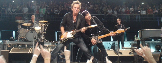 bruce springsteen on stage