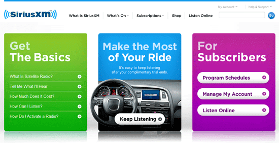 Sirius and xm websites merge new web player brand unification this publicscrutiny Images