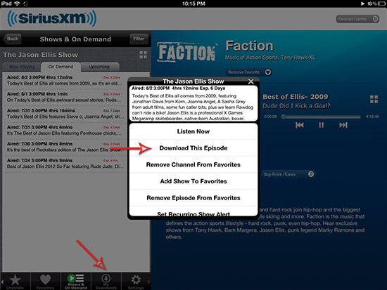 SiriusXM Mobile App Now Features OnDemand and Offline